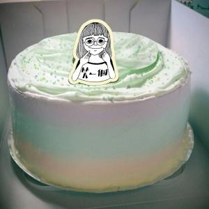 Zhuang Zhuang,笑一個~~( 圖案可以吃喔!)手工冰淇淋千層蛋糕 (唯一可全台宅配冰淇淋千層蛋糕) ( 可勾不要冰淇淋, 也可勾要冰淇淋 ) [ designed by Zhuang ],