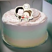 香游氏,結婚週年快樂!( 圖案可以吃喔!) 手工冰淇淋蛋糕 (唯一可全台宅配冰淇淋蛋糕) ( 可勾不要冰淇淋, 也可勾要冰淇淋 ) [ designed by 香游氏 ],