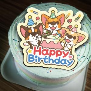 jcccjia@gmail.com,happy birthday( 圖案可以吃喔!)手工冰淇淋彩虹水果蛋糕 (唯一可全台宅配冰淇淋蛋糕) ( 可勾不要冰淇淋, 也可勾要冰淇淋 ) [ designed by 椪妹&柯基犬椪椪愛說畫],