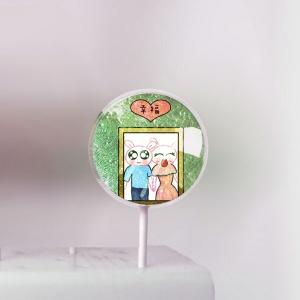 草莓,Merry Christmas ~~ 美國熱銷星空棒棒糖 [ designed by 草莓幸福畫小館 ],