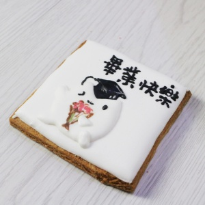 she951951,畢業快樂   糖霜餅乾 & DIY 材料包 [ designed by Tata 啾戀貓 ],