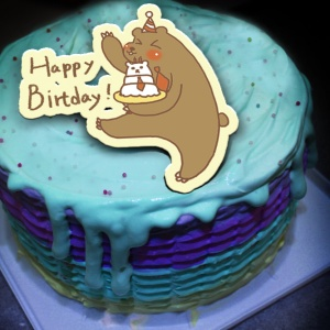 ruby J.,Happy Birthday~~ ( 圖案可以吃喔!)手工冰淇淋彩虹水果蛋糕 (唯一可全台宅配冰淇淋蛋糕) ( 可勾不要冰淇淋, 也可勾要冰淇淋 ) [ designed by 甜蜜物語],