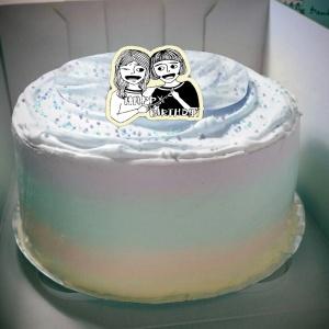 Zhuang Zhuang,happy birthday ( 圖案可以吃喔!)手工彩虹水果蛋糕 ( 可勾不要冰淇淋, 也可勾要冰淇淋 ) [ designed by Zhuang ],