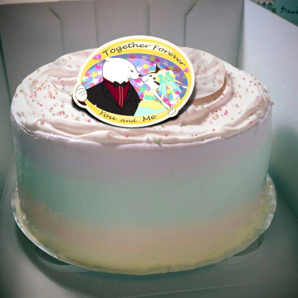 貝夏到了 貝夏到了,you and me ( 圖案可以吃喔!) 手工Semifreddo義大利彩虹水果蛋糕 (唯一可全台宅配冰淇淋蛋糕) ( 可勾不要冰淇淋, 也可勾要冰淇淋 ) [ designed by 貝夏到了 ],