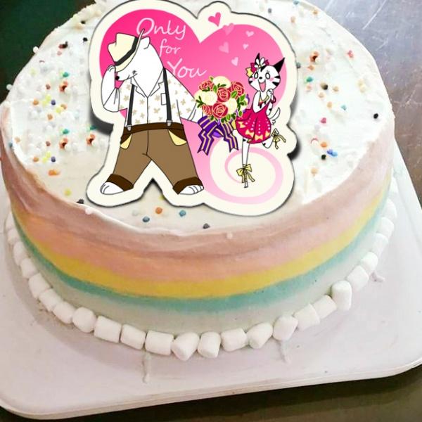 貝夏到了 貝夏到了,only for you ( 圖案可以吃喔!) 手工Semifreddo義大利彩虹水果蛋糕 (唯一可全台宅配冰淇淋蛋糕) ( 可勾不要冰淇淋, 也可勾要冰淇淋 ) [ designed by 貝夏到了 ],