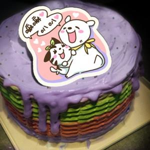 貝夏到了 貝夏到了,生個寶寶聰明又可愛! ( 圖案可以吃喔!) 冰淇淋彩虹水果蛋糕 [ designed by 貝夏到了],