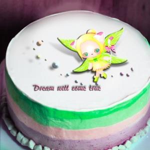 貓鈴 貓鈴,當你真心渴望某件事時,全宇宙都會聯合起來幫助你!  ( 圖案可以吃喔!) 冰淇淋彩虹水果蛋糕 [ designed by 貓鈴],