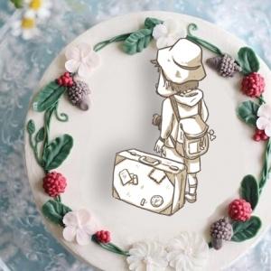 畫畫醫生 畫畫醫生,旅行( 圖案可以吃喔!)冰淇淋彩虹水果蛋糕 [ designed by 畫畫醫生],