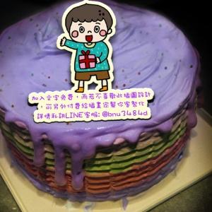 JuJu,( 圖案可以吃喔!) 冰淇淋彩虹水果蛋糕 [ designed by JuJu の塗鴉日誌],