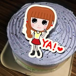 kimie a繪畫天地 kimie a繪畫天地,YA! ( 圖案可以吃喔!) 冰淇淋彩虹水果蛋糕 [ designed by Kimie a 繪畫天地 ],