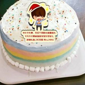 Lodo樂德設計,( 圖案可以吃喔!) 冰淇淋彩虹水果蛋糕 [ designed by LODO的日常生活 ],