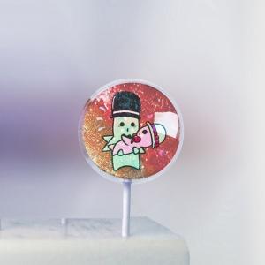 外星mo,寶貝我愛你! ( 圖案可以吃喔!) 冰淇淋彩虹水果蛋糕 [ designed by 外星mo ],