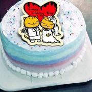 ORECAT我是貓,Happy Wedding Day  ( 圖案可以吃喔!) 手工冰淇淋千層蛋糕 (唯一可全台宅配冰淇淋千層蛋糕) ( 可勾不要冰淇淋, 也可勾要冰淇淋 ) [ designed by ORECAT我是貓],