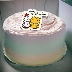 ORECAT我是貓,Merry Chrismas  ( 圖案可以吃喔!) 冰淇淋彩虹水果蛋糕 [ designed by ORECAT我是貓],