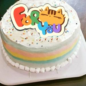 不屑貓 不屑貓,( 圖案可以吃喔!)手工冰淇淋彩虹水果蛋糕 (唯一可全台宅配冰淇淋蛋糕) ( 可勾不要冰淇淋, 也可勾要冰淇淋 )  [ designed by 不屑貓 ],