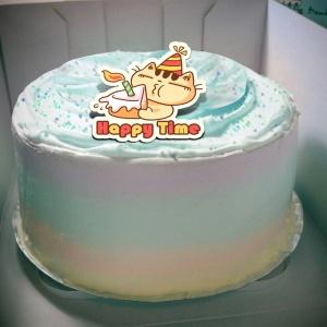 不屑貓 不屑貓,( 圖案可以吃喔!) 手工冰淇淋彩虹水果蛋糕 (唯一可全台宅配冰淇淋蛋糕) ( 可勾不要冰淇淋, 也可勾要冰淇淋 )  [ designed by 不屑貓 ],