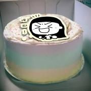 泡泡小姐 泡泡小姐,喔耶! ( 圖案可以吃喔!)手工冰淇淋彩虹水果蛋糕 (唯一可全台宅配冰淇淋蛋糕) ( 可勾不要冰淇淋, 也可勾要冰淇淋 ) [ designed by 泡泡小姐 ],