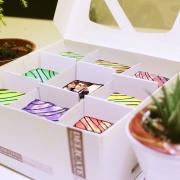 PrinXure 藝術妳的客製禮品 by 10,000名插畫角色的貼圖&外筐,彩虹水果照片布朗尼禮盒 ( 9入九宮格,最中間為照片布朗尼 ),