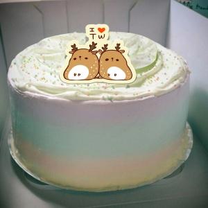 糖水舖,I love Tw~~手工冰淇淋彩虹水果蛋糕 (唯一可全台宅配冰淇淋蛋糕) ( 可勾不要冰淇淋, 也可勾要冰淇淋 ) [ designed by 糖水舖 ],