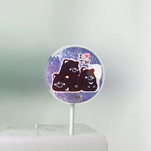 糖水舖 糖水舖,台灣黑熊~~ 美國熱銷星空棒棒糖 [ designed by 糖水舖 ],