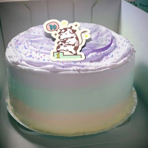 肥肥牛 ( 耀月 ),( 圖案可以吃喔!)冰淇淋彩虹水果蛋糕 [ designed by 肥牛牛(耀月) ],