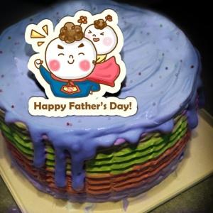 J.HO J.HO,爸爸節快樂 ( 圖案可以吃喔!) 手工冰淇淋彩虹水果蛋糕 (唯一可全台宅配冰淇淋蛋糕) ( 可勾不要冰淇淋, 也可勾要冰淇淋 ) [ designed by J.HO ],