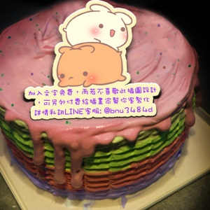 Sophie Y.,( 圖案可以吃喔!)冰淇淋彩虹水果蛋糕 [ designed by Bello ],