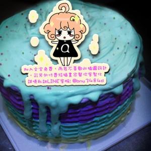 fireguns3,( 圖案可以吃喔!) 冰淇淋彩虹水果蛋糕 [ designed by HighQ],