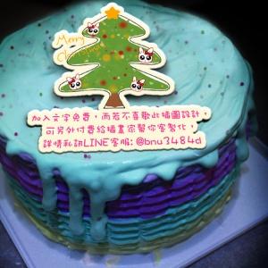 草莓,Merry Christmas~~冰淇淋彩虹水果蛋糕  [ designed by 草莓幸福畫小館 ],