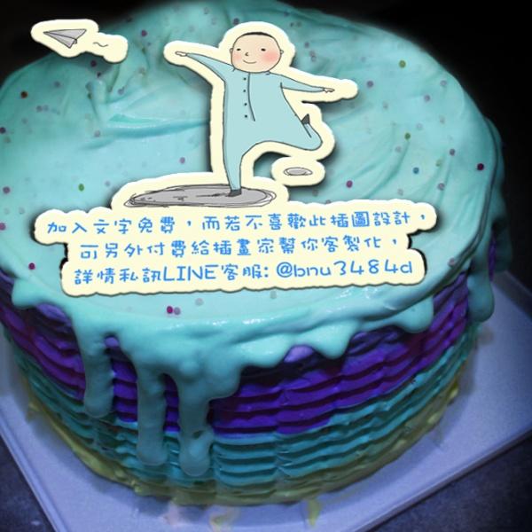 Timothei,( 圖案可以吃喔!)手工Semifreddo義大利彩虹水果蛋糕 (唯一可全台宅配冰淇淋蛋糕) ( 可勾不要冰淇淋, 也可勾要冰淇淋 ) [ designed by Timothei ],