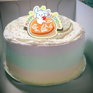 Sitara,happy birthday   ( 圖案可以吃喔!) 手工冰淇淋千層蛋糕 (唯一可全台宅配冰淇淋千層蛋糕) ( 可勾不要冰淇淋, 也可勾要冰淇淋 ) [ designed by Sitara],
