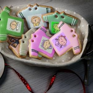 檸檬達,Tandora收涎餅乾 ( 附贈禮盒 )(收涎保孩子衣食無缺) ( 12片1盒、含紅線&穿洞 )  [ designed by 檸檬達 ],