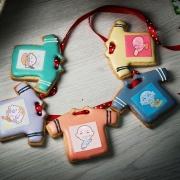 Sitara,Tandora收涎餅乾 ( 附贈禮盒 )(收涎保孩子衣食無缺) ( 12片1盒、含紅線&穿洞 )  [ designed by Sitara ],
