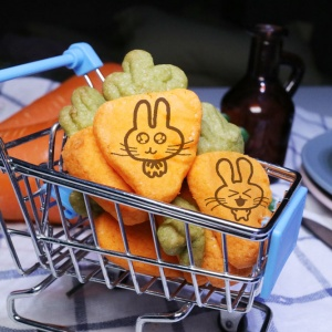 ki11death,蘿蔔起司餅乾禮盒 ( 類似小時候的小熊餅乾文青款) ( 附贈禮盒,適合與同事朋友家人分享一起吃 )  [ designed by 大大 ],