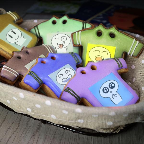 ki11death,Tandora收涎餅乾 ( 附贈禮盒 )(收涎保孩子衣食無缺) ( 12片1盒、含紅線&穿洞 )  [ designed by 大大 ],