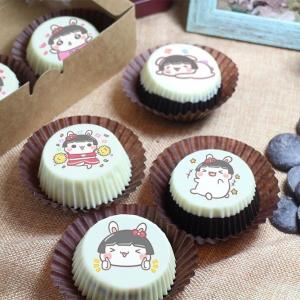 Honey Egg 多蜜兔,嘴饞系列 - 巧克力包膜Oreo餅乾 [ designed by Honey Egg 多蜜兔 ],