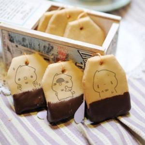 PinkCat小儀,PinkCat,小儀,嘴饞系列 - 茶包巧克力餅乾 [ designed by PinkCat小儀 ],漫漫手工甜點市集, PX, 插畫家, LINE, 插畫, 造型甜點, 造型蛋糕, 客製化, 零食