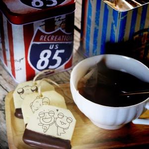 小蛙大,嘴饞系列 - 茶包巧克力餅乾 ( 附贈禮盒,適合與同事朋友家人分享一起吃 ) [ designed by 小蛙大 ],