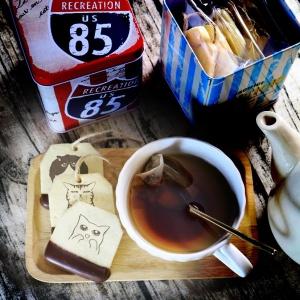 捏嘴巴 捏嘴巴,嘴饞系列 - 茶包巧克力餅乾 ( 附贈禮盒,適合與同事朋友家人分享一起吃 ) [ designed by 捏嘴巴 ],