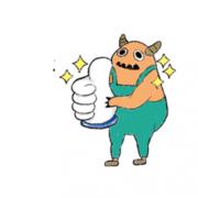 毛叢叢 毛叢叢,Tandora收涎餅乾 ( 附贈禮盒 )(收涎保孩子衣食無缺) ( 12片1盒、含紅線&穿洞 )  [ designed by 毛叢叢 ],