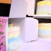 冰淇淋彩虹水果蛋糕, 彩虹蛋糕, 水果蛋糕, 冰淇淋蛋糕, 零食, 甜點, 蛋糕, 手工甜點, 漫漫手工甜點市集, PX, LINE, 插畫家, 插畫, 巧克力, 冰淇淋, 布朗尼, 餅乾