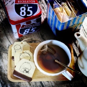 dousdaily,嘴饞系列 - 茶包巧克力餅乾 ( 附贈禮盒,適合與同事朋友家人分享一起吃 ) [ designed by DouDou  ],