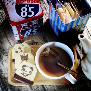 Panda.J,嘴饞系列 - 茶包巧克力餅乾 ( 附贈禮盒,適合與同事朋友家人分享一起吃 ) [ designed by panda ],