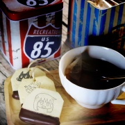 honey520,嘴饞系列 - 茶包巧克力餅乾 ( 附贈禮盒,適合與同事朋友家人分享一起吃 ) [ designed by Hello!哈妮  ],