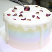 susan susan,玫瑰荔枝____彩虹水果蛋糕系列 ( 下方可勾選不做冰淇淋變慕斯、也可做冰淇淋),