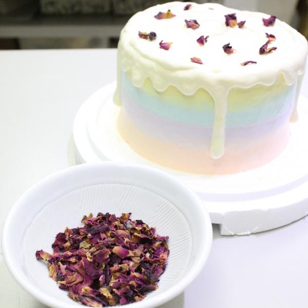 susan susan,冰淇淋彩虹水果蛋糕__玫瑰荔枝口味 (唯一可全台宅配冰淇淋蛋糕) ( 可勾不做冰淇淋、也可做冰淇淋),