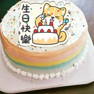 eyedbear0319,生日快樂!! ( 圖案可以吃喔!)手工冰淇淋千層蛋糕 (唯一可全台宅配冰淇淋千層蛋糕) ( 可勾不要冰淇淋, 也可勾要冰淇淋 ) [ designed by 白眼 • 熊先生 ],