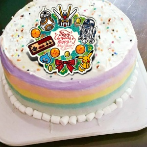 cool3c,( 圖案可以吃喔!)冰淇淋彩虹水果蛋糕 [ designed by 討喜小姐 ],