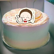香游氏,爸爸,你是最棒的!( 圖案可以吃喔!) 手工彩虹水果蛋糕 ( 可勾不要冰淇淋, 也可勾要冰淇淋 ) [ designed by 香游氏 ],