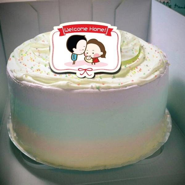香游氏,Welcome Home( 圖案可以吃喔!) 冰淇淋彩虹水果蛋糕 [ designed by 香游氏 ],插畫家, 冰淇淋, 慕斯, 彩虹蛋糕, 與手工甜點對話的Susan, 奶霜彩繪蛋糕, 手工甜點,PX漫漫手工市集, PX, 百萬LINE明星,甜點表心意, PrinXure, 客製化, 插畫, LINE, 百萬LINE明星陪你吃蛋糕, 漫漫手工市集, PrinXure, 拍洗社, 插畫家, 插畫角色, 布朗尼, PrinXure, 餅乾, 拍立得造型, 禮物, DESSERT365, 找甜甜網